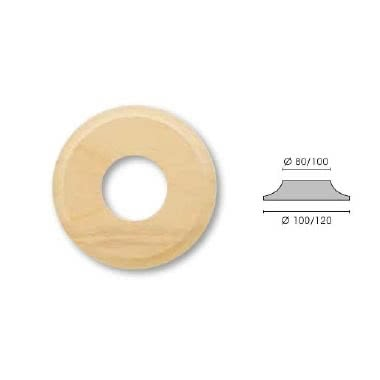 GI GAMBARELLI ROSETTA FORATA IN LEGNO GREZZA DIAMETRO 100MM (Conf. da 2 Pz.) product photo Photo 01 3XL