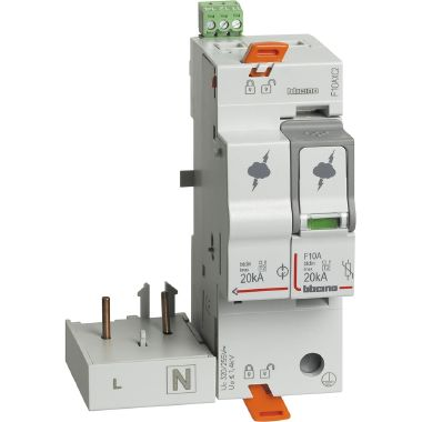 Modulo SPD associabile T2 20KA 1P+N  con contatto ausiliario product photo Photo 01 3XL