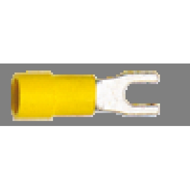 CAPOCORDA GIALLO A FORCELLA vite 4mm CEMBRE GF-U4 (Conf. da 100 Pz.) product photo Photo 01 3XL
