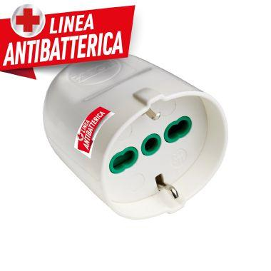 Presa P40 smontabile 2P+T 16A bianca linea antibatterica product photo Photo 01 3XL
