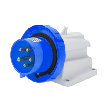 SPINA FISSA DA PARETE A 90› - IP67 - 3P+N+T 16A 200-250V 50/60HZ - BLU - 9H - CABLAGGIO A VITE product photo Photo 01 3XL