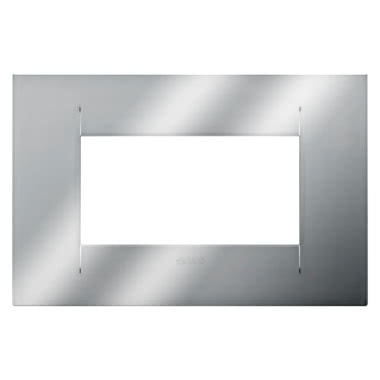 PLACCA GEO - IN TECNOPOLIMERO METALLIZZATO - 4 POSTI - CROMO - CHORUS product photo Photo 01 3XL