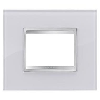 PLACCA FLAT - IN VETRO - 3 POSTI - BIANCO FLASH - CHORUS product photo Photo 01 3XL