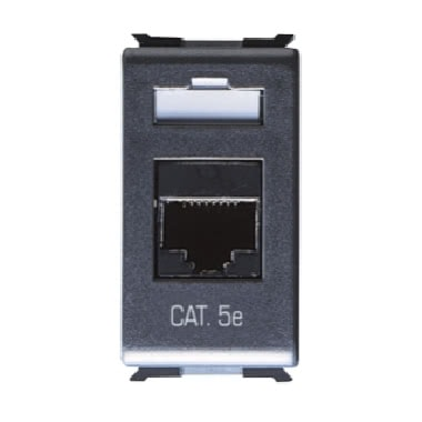 PRESA DATI - RJ45 - 4 COPPIE - CATEGORIA 5e - UTP - TOOLLESS - 1 MODULO - PLAYBUS product photo Photo 01 3XL