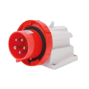 SPINA FISSA DA PARETE A 90› - IP67 - 3P+T 16A 380-415V 50/60HZ - ROSSO - 6H - CABLAGGIO A VITE product photo Photo 01 3XL