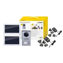 Kit videocitofono 7 pollici bifamiliare con touch screen e wifi product photo